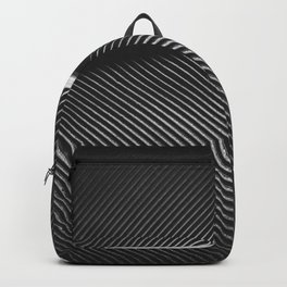 Elegant silver pigeon feather texture Backpack