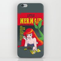 pulp iPhone & iPod Skins featuring Pulp Mermaid by Pinfloi
