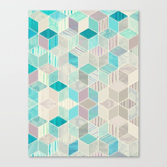 Vacation Patchwork Canvas Print