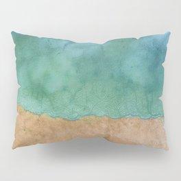 Blue Ocean Sea Shoreline - Drone photography Pillow Sham