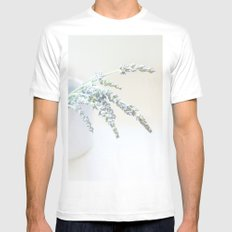 Lavender Mens Fitted Tee White SMALL