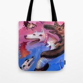 Dragon Play Tote Bag