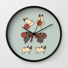 Butt Lift with The Pug Wall Clock