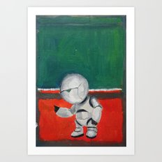 Marvin and Rothko Art Print
