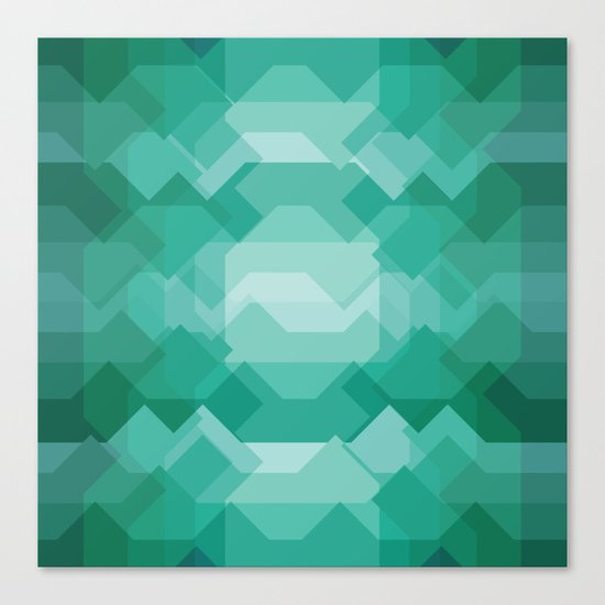Emerald gem stone Canvas Print