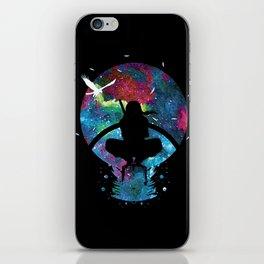 Grungy Ninja Silhouette iPhone Skin