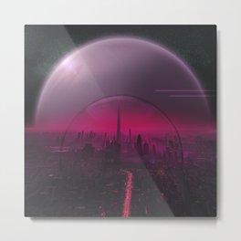 Cyber Punk Planet Metal Print