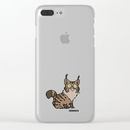 Cat - Maine coon Clear iPhone Case