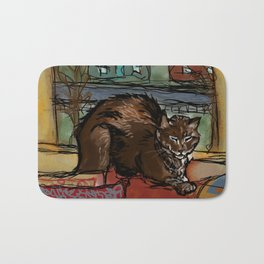 The Leisurely Cat Bath Mat