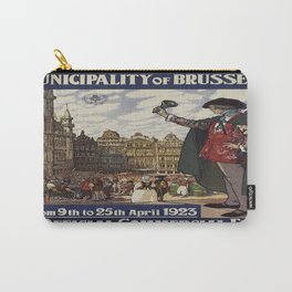 Vintage poster - Brussels Carry-All Pouch