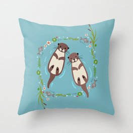 My Significant Otter Throw Pillow