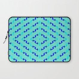 1508 Metallic waves pattern Laptop Sleeve