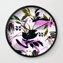Modern abstract nature I Wall Clock