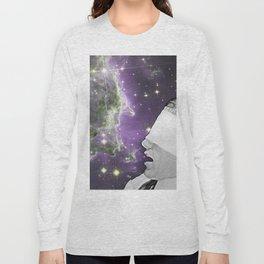 People of the Universe-Nebula Blindfold-Purple Long Sleeve T-shirt