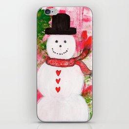 Heartfelt Snowman iPhone Skin
