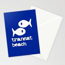 Transat beach Stationery Cards