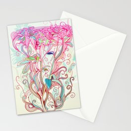 Floral clover Stationery Cards
