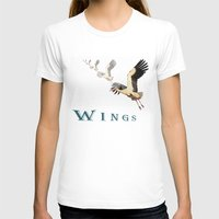 wings T-shirts featuring Wings by Avigur