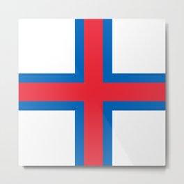 Flag of Faroe Metal Print