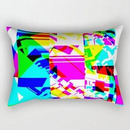 Glitch geometric pattern design artwork Rectangular Pillow