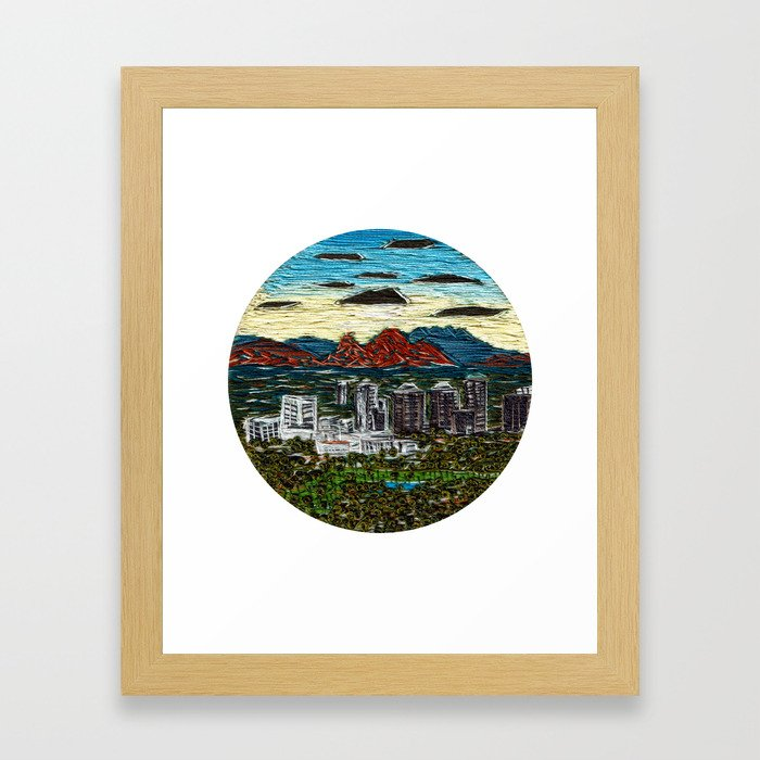 Camelback Sunrise Framed Art Print