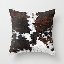 Brown Cowhide, Farmhouse decor Throw Pillow
