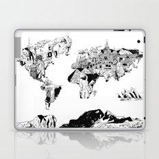 world map black and white Laptop & iPad Skin