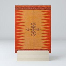 Orange Traditional Moroccan Artwork Design Mini Art Print