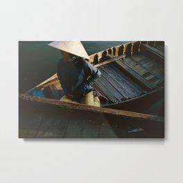 Vietnam Boat Ride  Metal Print