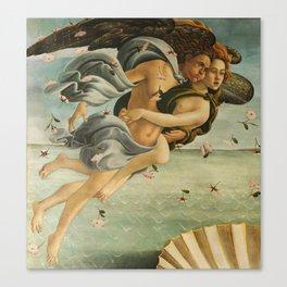 "Sandro Botticelli ""The Birth of Venus"" 3. Zephyr and his companion Canvas Print"