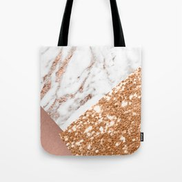 Layers of rose gold Tote Bag