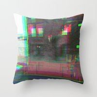 urban Throw Pillows featuring Urban by Jane Lacey Smith