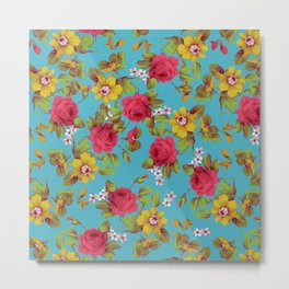 Blooming Hearts Metal Print