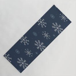 Artistic snowflakes pattern Yoga Mat