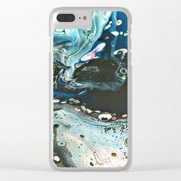 Fluid Art 15 Clear iPhone Case