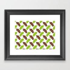 Big Leaves Framed Art Print