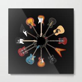 Guitar Circle Metal Print