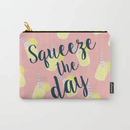 Squeeze the Day! - Mason Jar Lemonade Pattern Carry-All Pouch