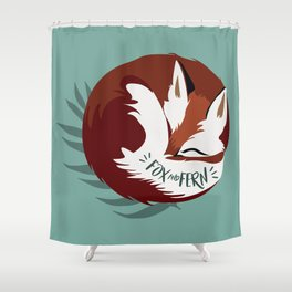 Fickle the Fox Shower Curtain