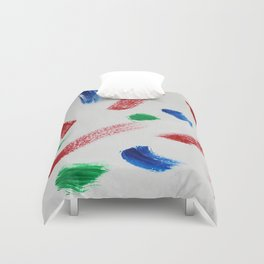 Red, White, Blue and Green Duvet Cover