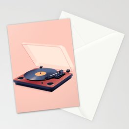 Music in History - Record Player Stationery Cards