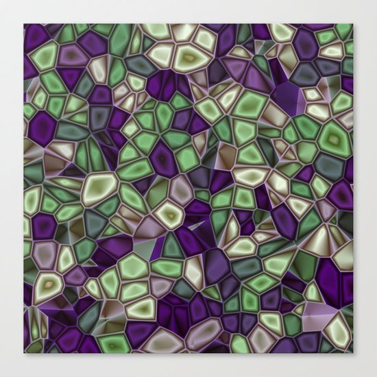 Fractal Gems 02 - Purples and Greens Canvas Print