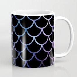 Abstract Black & Purple Fish Scales Coffee Mug