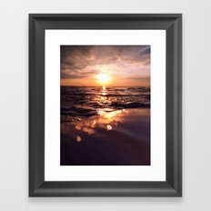 And there I find You in the mystery, in oceans deep - Portrait Size Framed Art Print