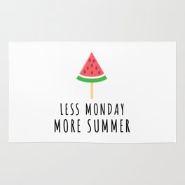 Less Monday More Summer Melon Rug