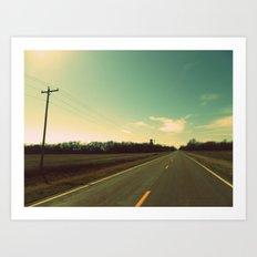 Kansas Road Art Print