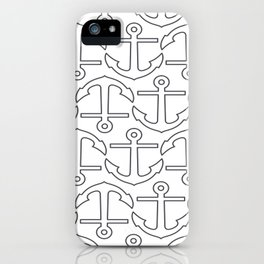 Nautical Love with Anchors iPhone Case