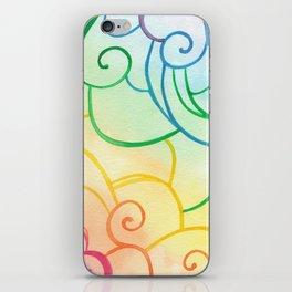 Rainbow Swirls iPhone Skin