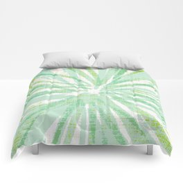 Abstract Atomic Floral Comforters
