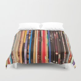 Indie Rock Vinyl Records Duvet Cover